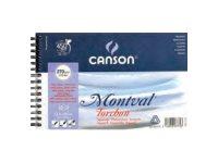 Canson Montval - Bloc dessin à spirales - 12 feuilles - 13 x 21 - 300 gr
