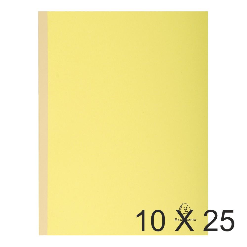 Exacompta Forever - 10 Paquets de 25 Chemises dos toilé - 320 gr - jaune