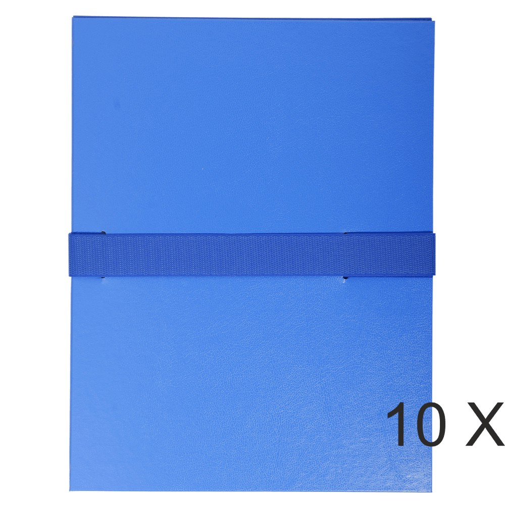 Exacompta - 10 Chemises extensibles à sangle - bleu