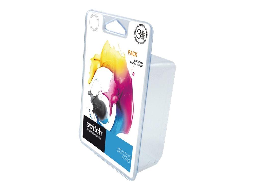 HP 302XL - remanufacturé Switch - Pack de 2 - noir, cyan, magenta, jaune - cartouche d'encre