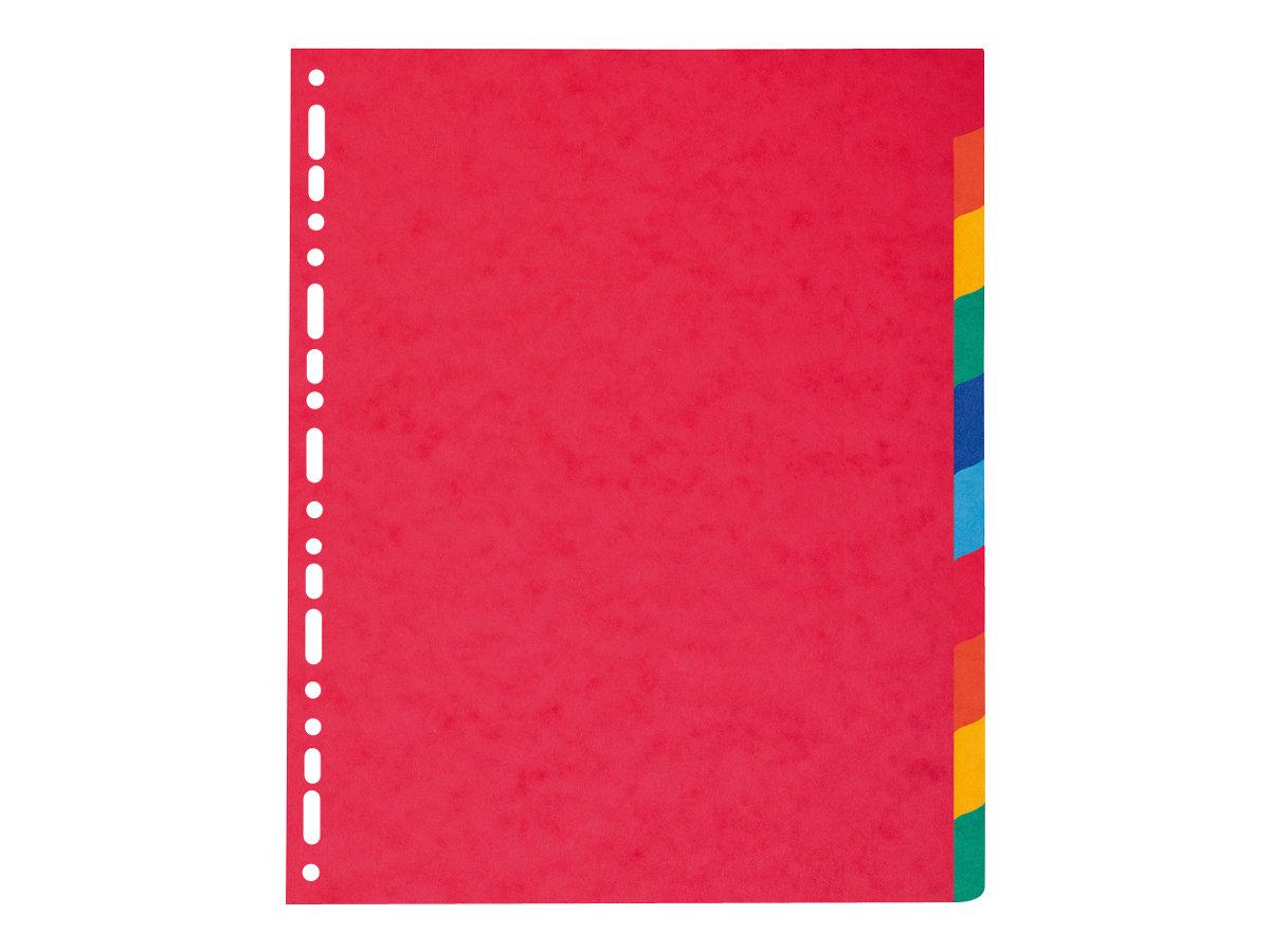Exacompta Nature Future - Intercalaire 10 positions - A4 Maxi - carte lustrée colorée
