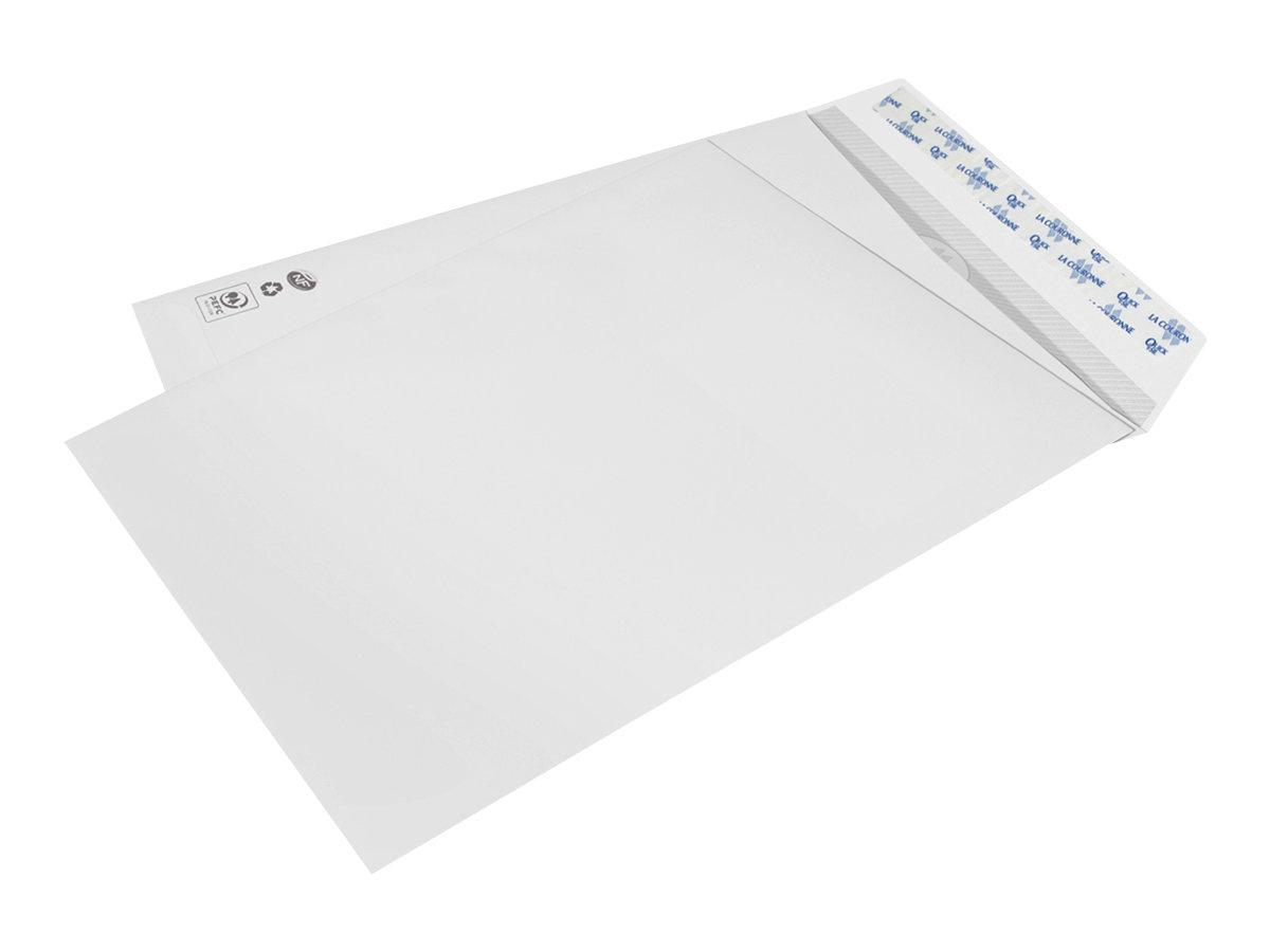 La Couronne - 250 Pochettes Enveloppes 260 x 330 mm - 90 gr - sans fenêtre - blanc - bande auto-adhésive
