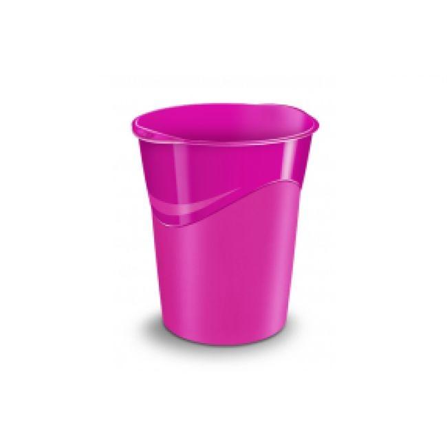 CEP Gloss - Corbeille à papier 14L - rose