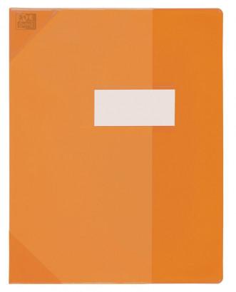 Oxford Strong Line - Protège cahier sans rabat - A4 (21x29,7 cm) - orange translucide