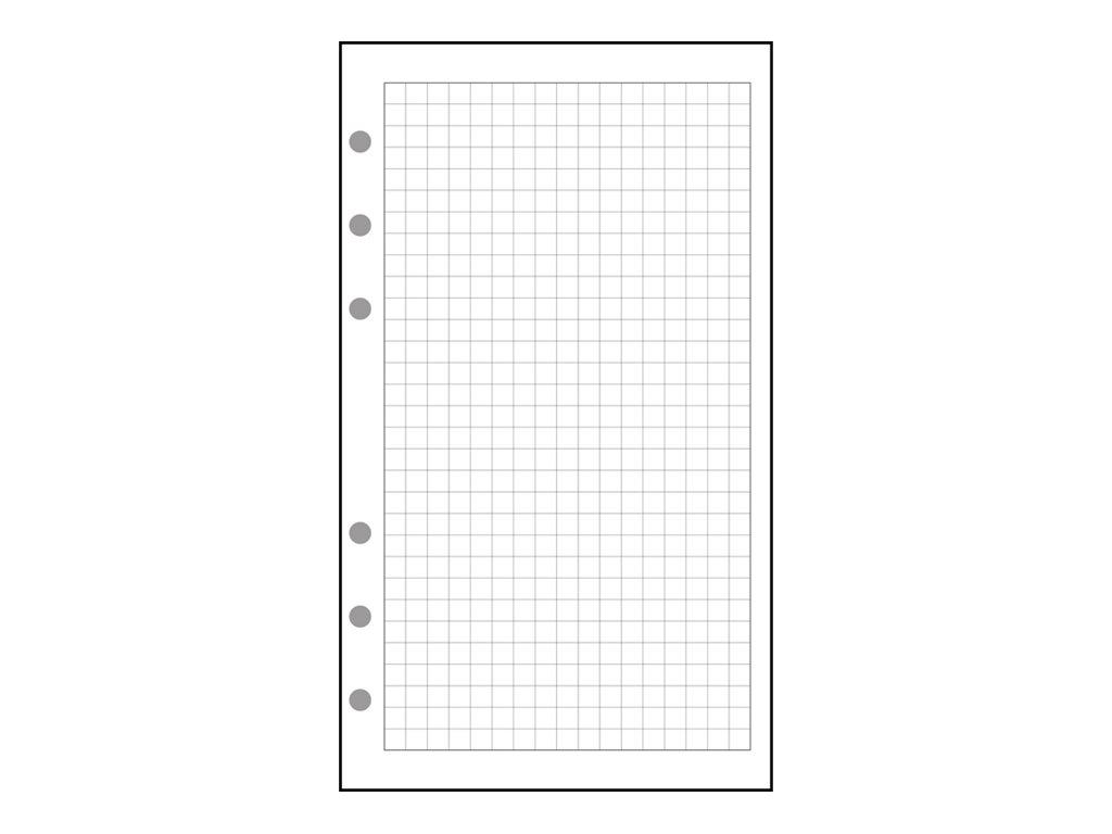 Exacompta Exatime 21 - Recharge pour organiseur - feuilles quadrillées 5x5 mm - 14,2 x 21 cm