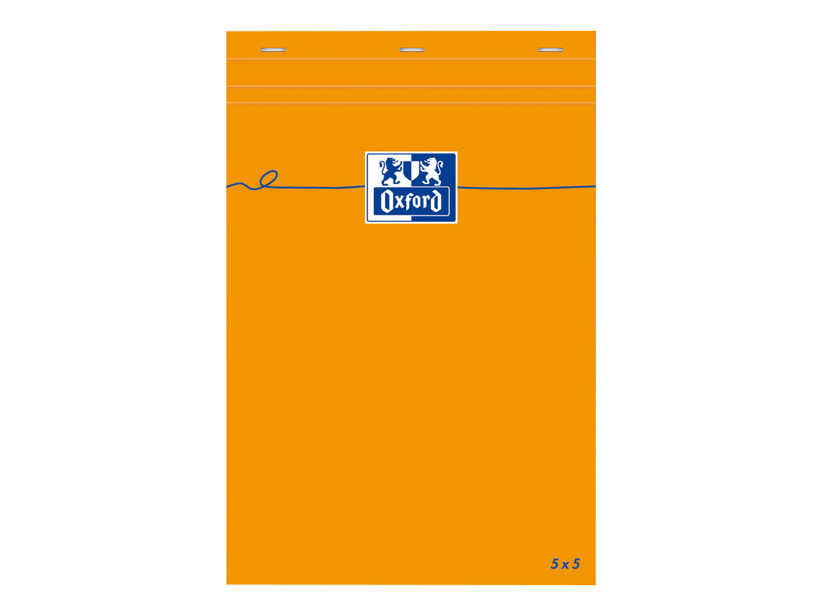 OXFORD - Bloc notes - A5 - 160 pages - petits carreaux - 80G - agrafé