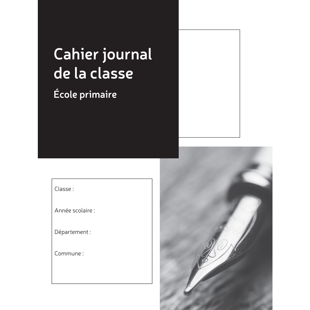 Exacompta - Cahier Journal de la classe - école primaire - double page par semaine - A4