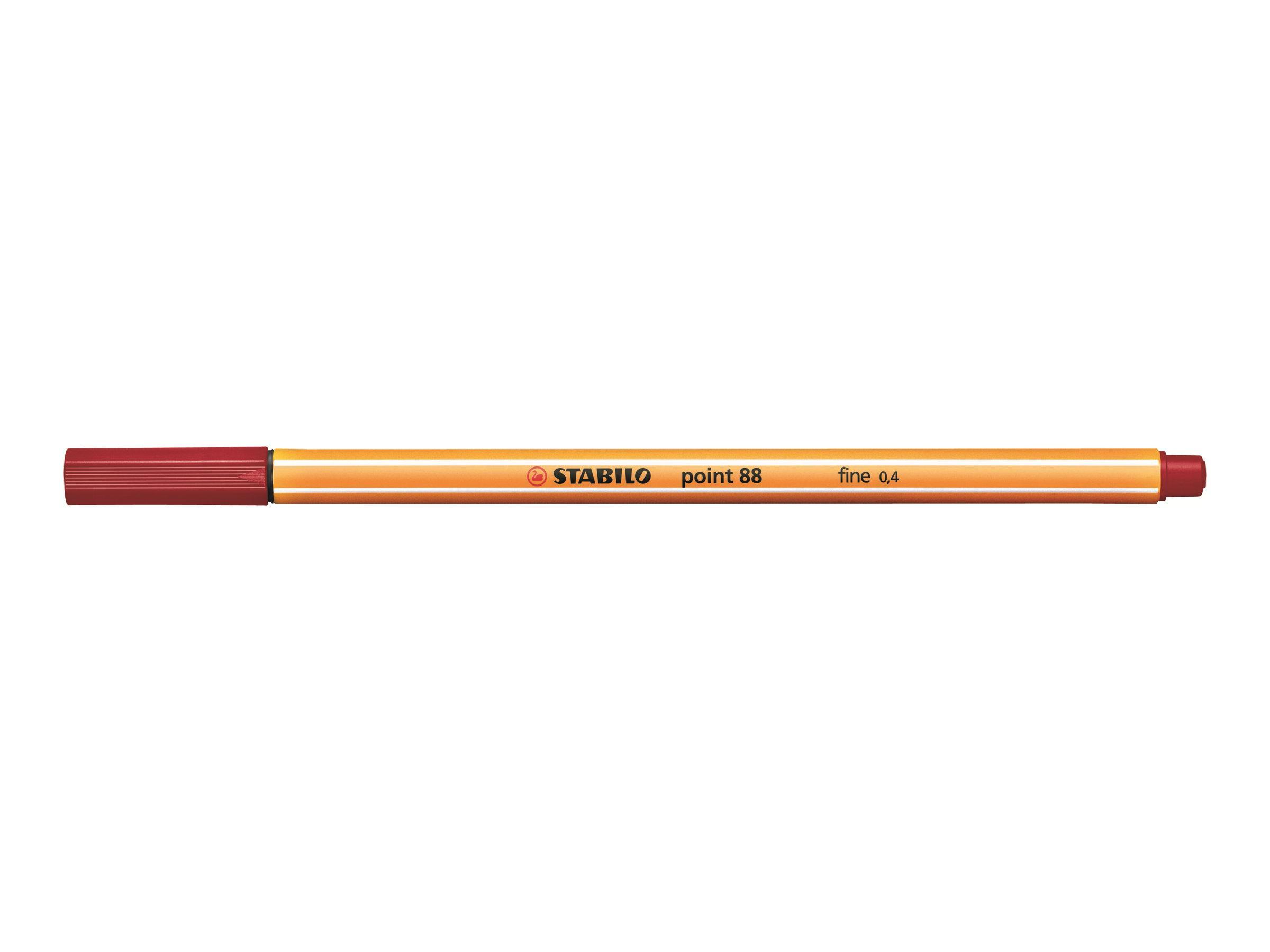 STABILO point 88 - Feutre fin - 0.4 mm - bordeaux