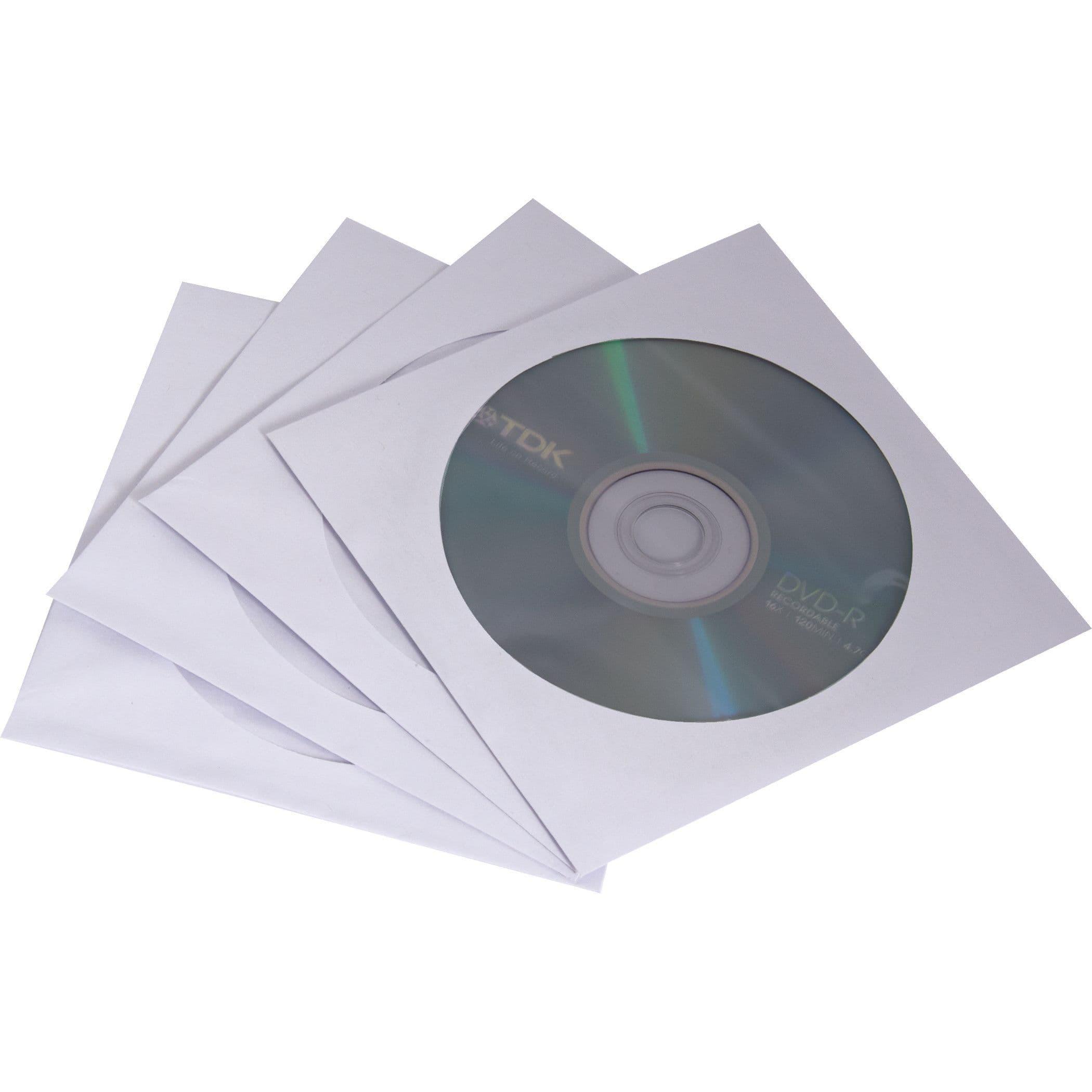Fellowes - Pack de 50 enveloppes CD en papier blanc