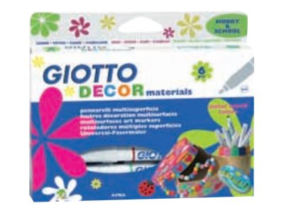 GIOTTO DECOR Materials - 6 Feutres - tous supports