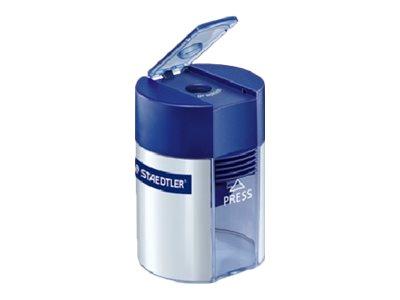STAEDTLER - Taille crayon - 1 trou - avec réservoir - Bleu/argent