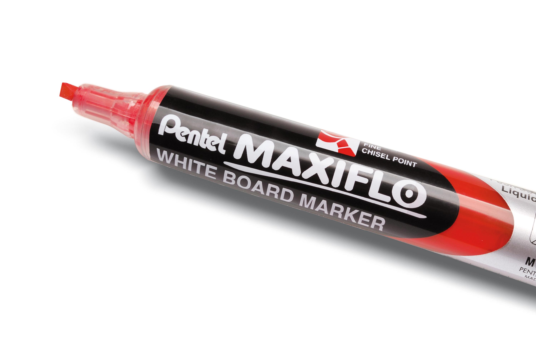 Pentel MAXIFLO - Marqueur effaçable - pointe biseau - rouge