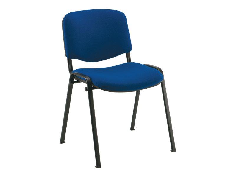 Chaise VISITEUR - accoudoir avec tablette en option - bleu