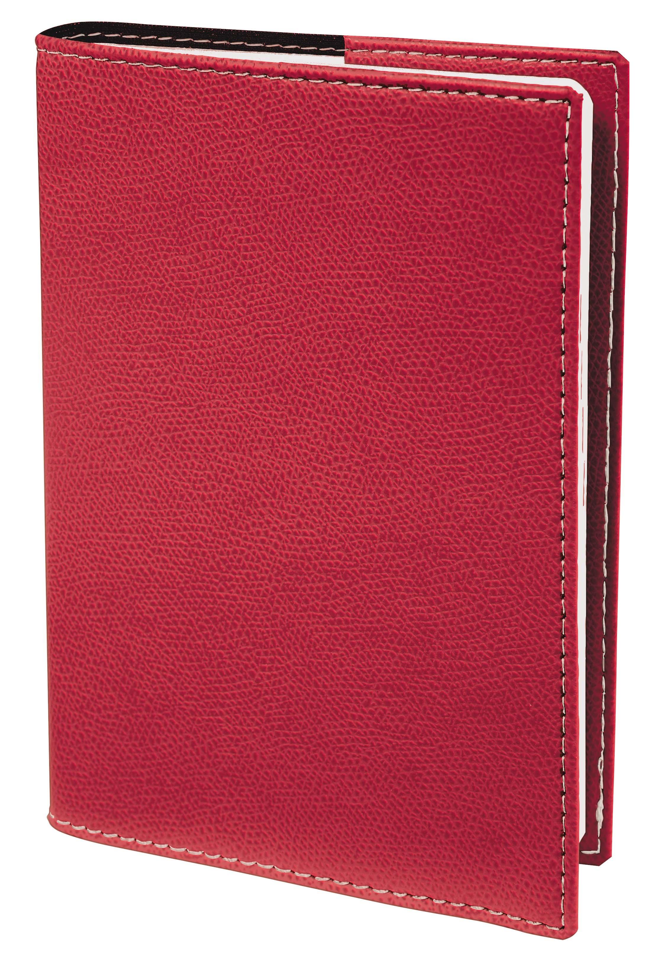 Agenda Club Planning SD avec répertoire - 1 semaine sur 2 pages - 18 x 24 cm - rouge - Quo Vadis
