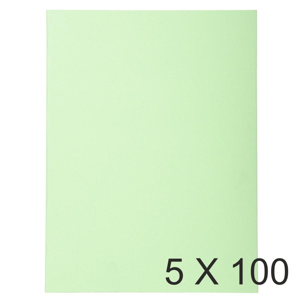 Exacompta Forever - 5 Paquets de 100 Chemises Folio - 170 gr - vert pré