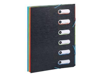 Viquel Office Design - Trieur polypro 6 positions - noir