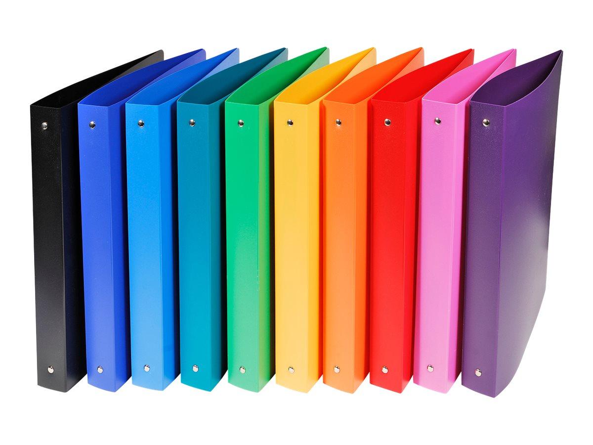 Exacompta Opak - Classeur souple à anneaux - Dos 40 mm - A4 - pour 225 feuilles - disponible dans différentes couleurs