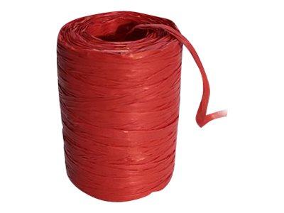 Maildor - Pelote de raphia synthétique - ruban d'emballage 100 m - rouge