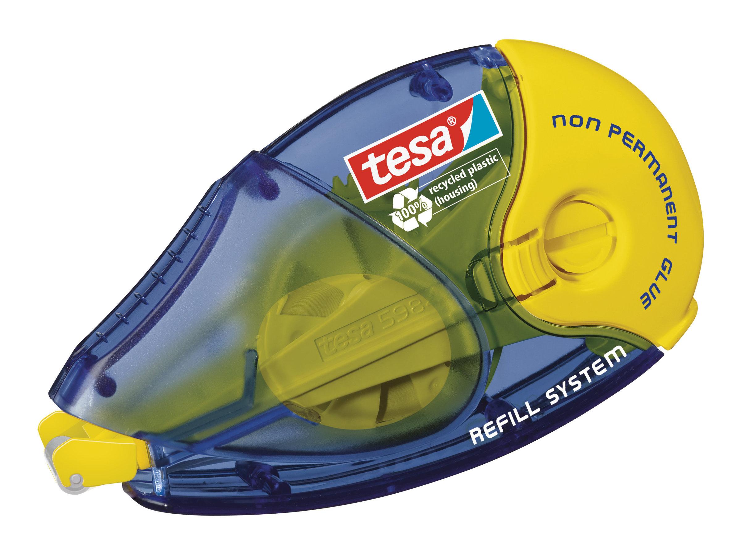 Tesa ecoLogo - Roller de colle - 8.4 mm x 14 m - non permanent