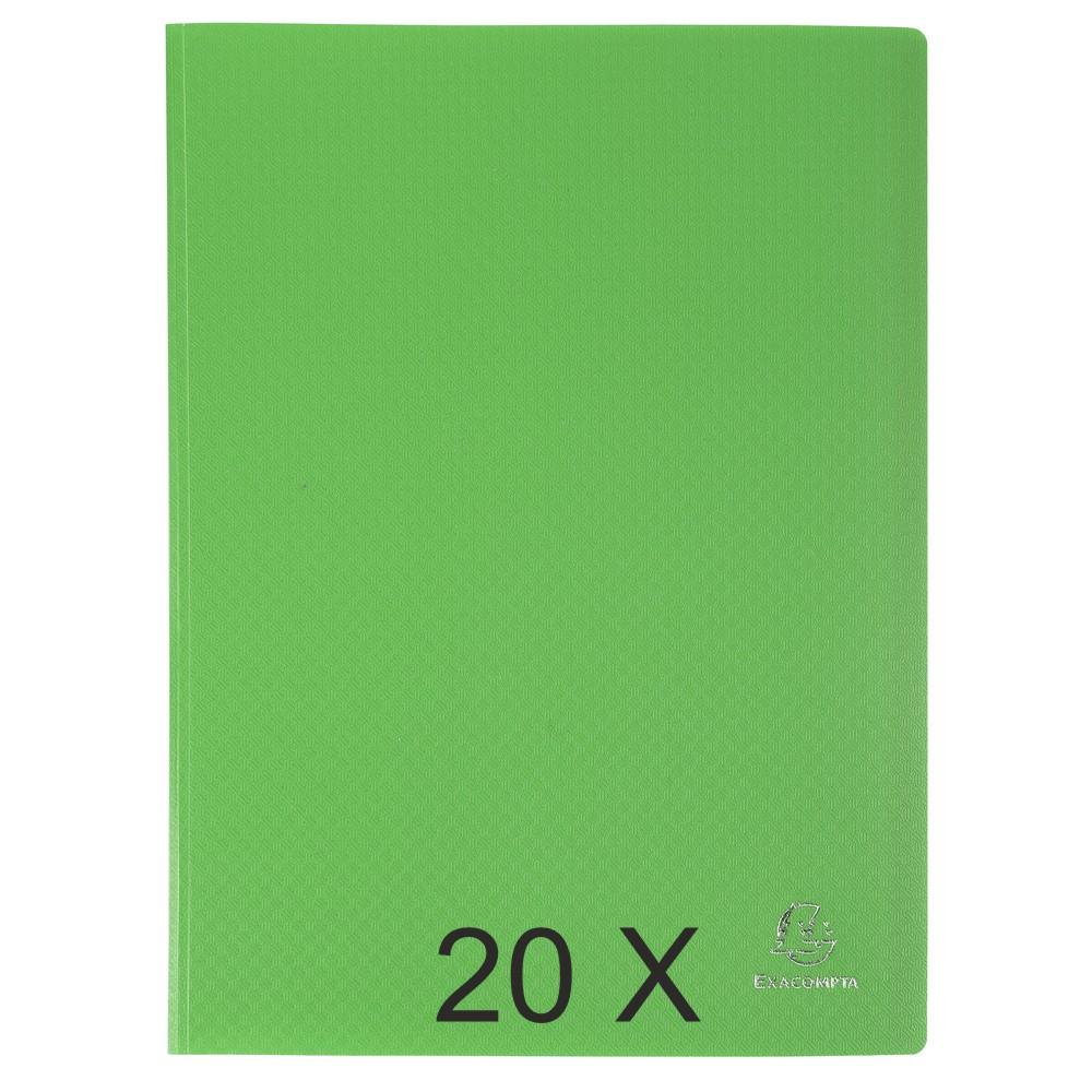 Exacompta Opak - 20 Porte vues - 40 vues - A4 - vert clair