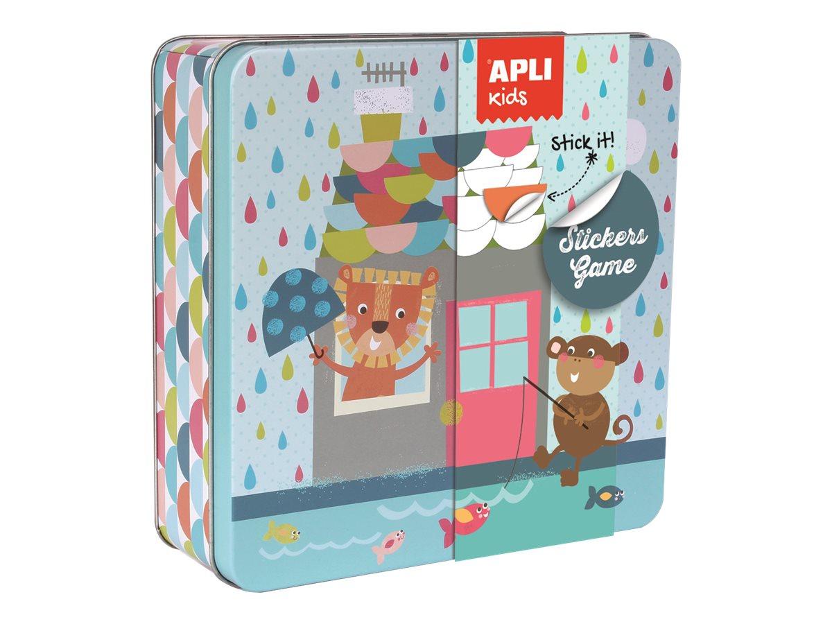 Apli Kids - Boîte métallique jeu de gommettes - maison