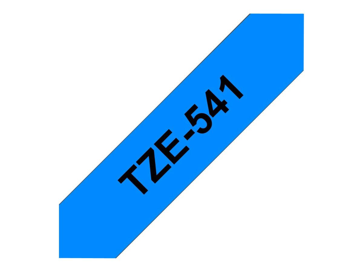 Brother TZe541 - Ruban d'étiquettes auto-adhésives - 1 rouleau (18 mm x 8 m) - fond bleu écriture noire