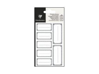 Clairefontaine - 28 Étiquettes rectangulaires - 28,8 x 16 cm - argent