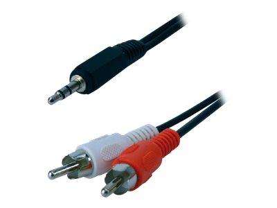 MCL Samar - câble audio/stéréo 2 prises RCA (M)vers JACK 3.5(M) - 1.5 m