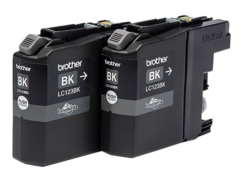 Brother LC123 - Pack de 2 - noir - cartouche d'encre originale