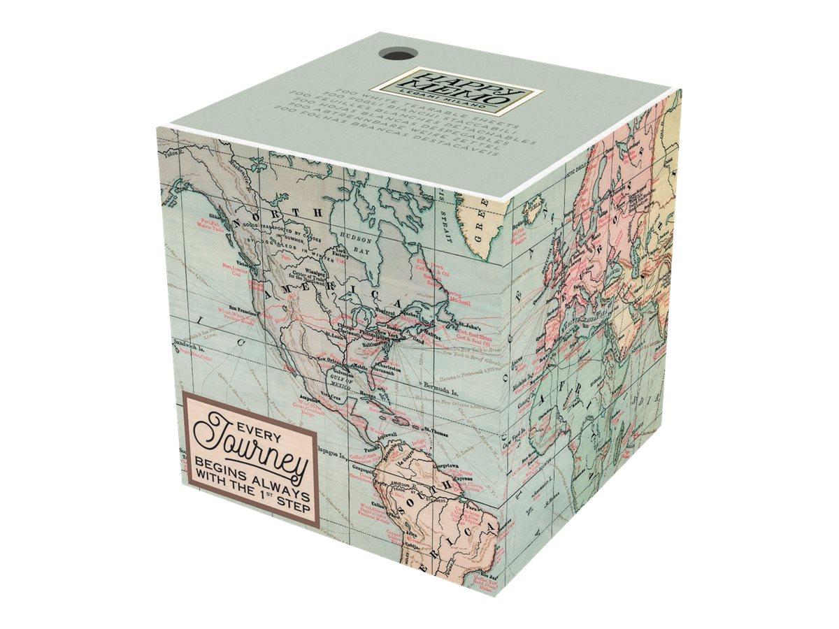 Legami - Bloc-notes Cube - motif map