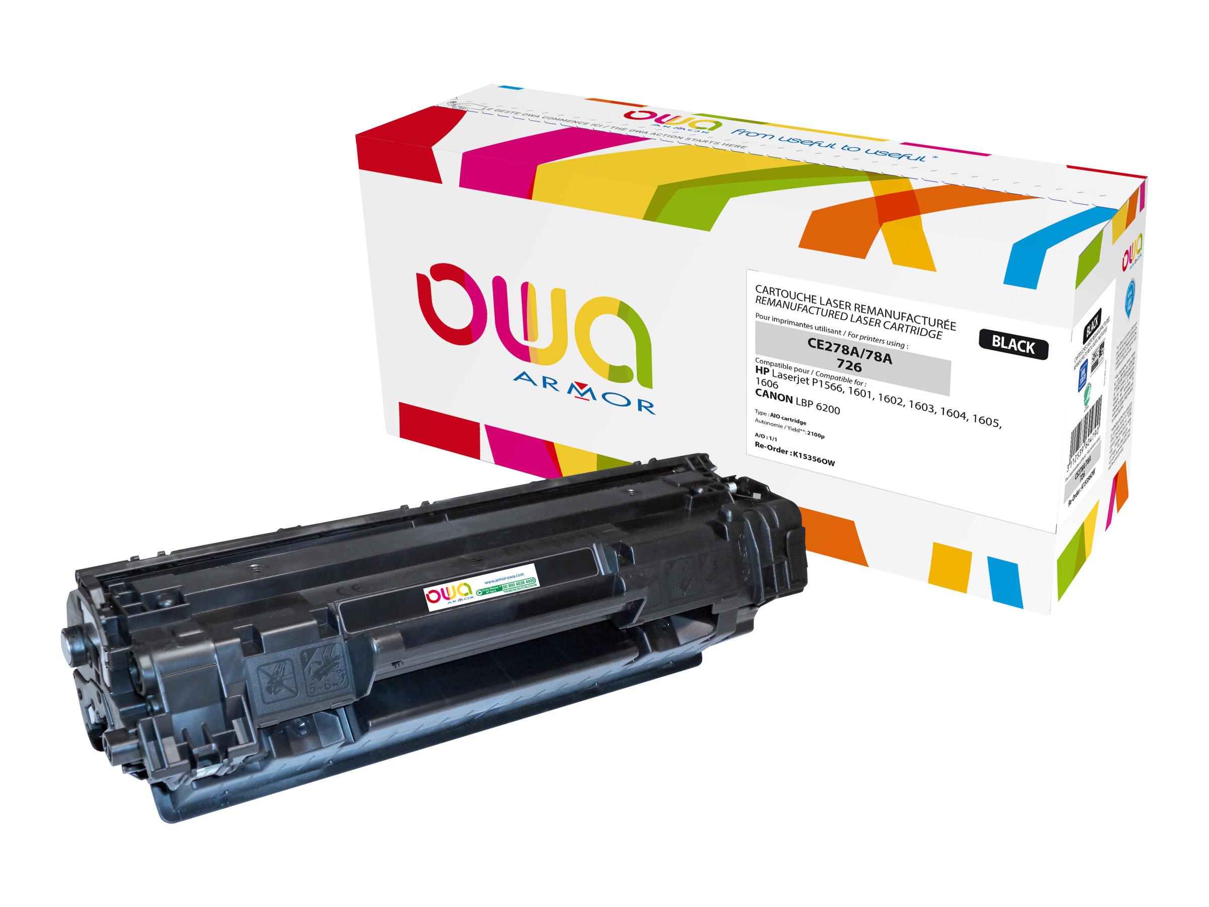 Owa K15356OW cartouche équivalente HP 78A / Canon 726 - noir