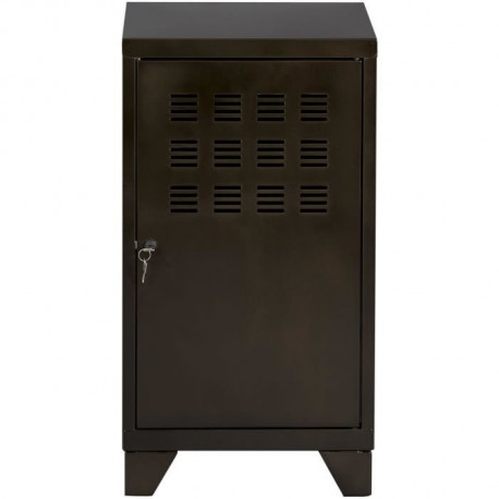 Casier de bureau avec pieds - 74 x 40 x 40 cm - noir vernis