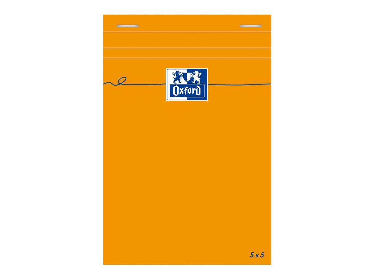 Oxford - Bloc notes - 10 x 15 cm - 160 pages - petits carreaux - 80G - orange