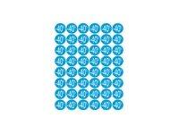 Apli Agipa - 192 Pastilles adhésives - étiquettes remise -40% - bleu