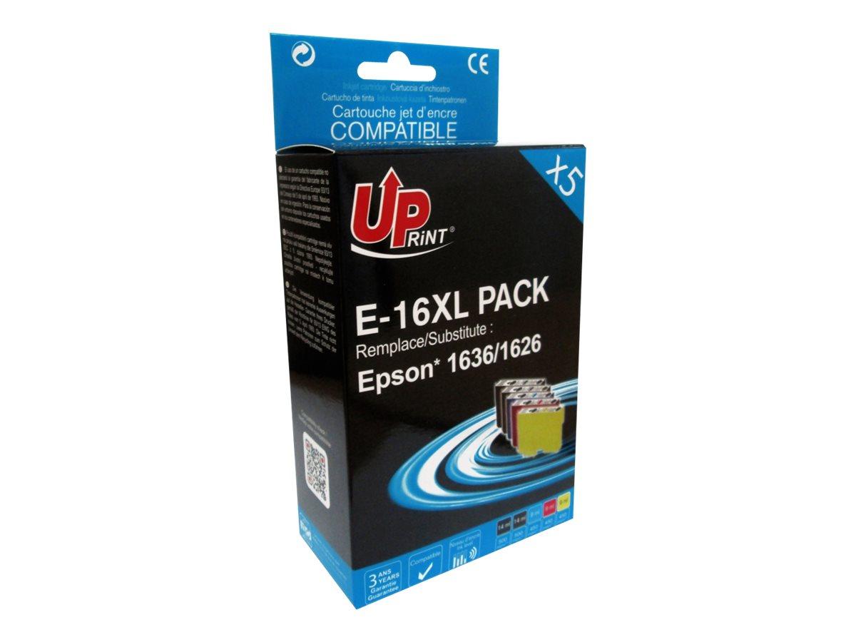 Epson 16XL Stylo plume - compatible UPrint E.16XL - Pack de 5 - noir x2, cyan, magenta, jaune - cartouche d'encre