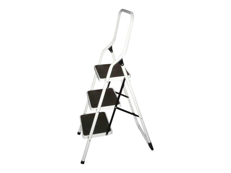 Safetool - Escabeau - 3 marches - noir et blanc