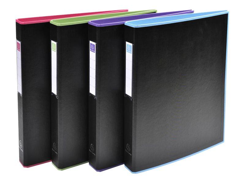 Exacompta Black Office - Classeur à anneaux - Dos 40 mm - A4 - pour 225 feuilles - disponible dans différentes couleurs