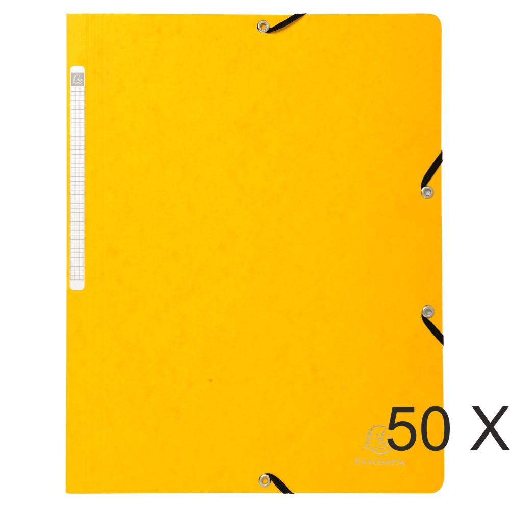 Exacompta - 50 Chemises sans rabat - A4 - jaune