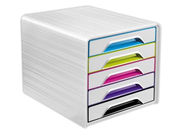 CEP Smoove Arctic - Module de classement 5 tiroirs - blanc/multicolore