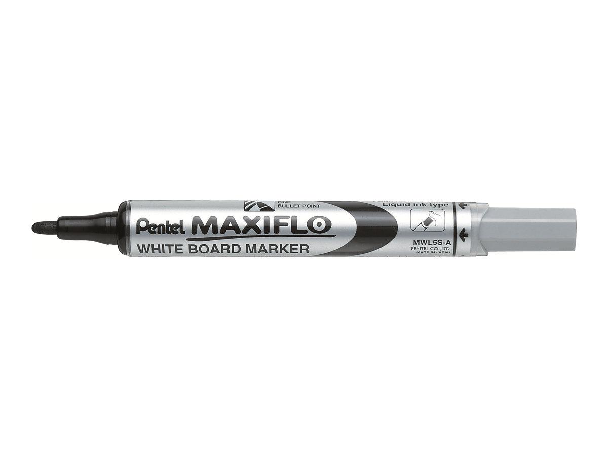 Pentel MAXIFLO - Marqueur effaçable - pointe ogive - noir