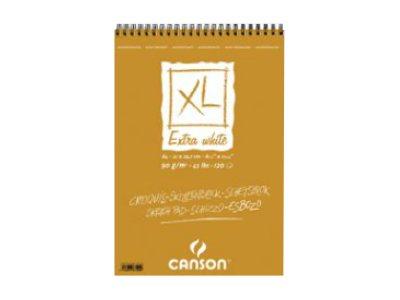 Canson XL Extra White - Bloc dessin croquis - 60 feuilles - 90 gr - blanc