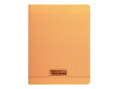 Calligraphe 8000 - Cahier polypro 17 x 22 cm - 96 pages - grands carreaux (Seyes) - orange