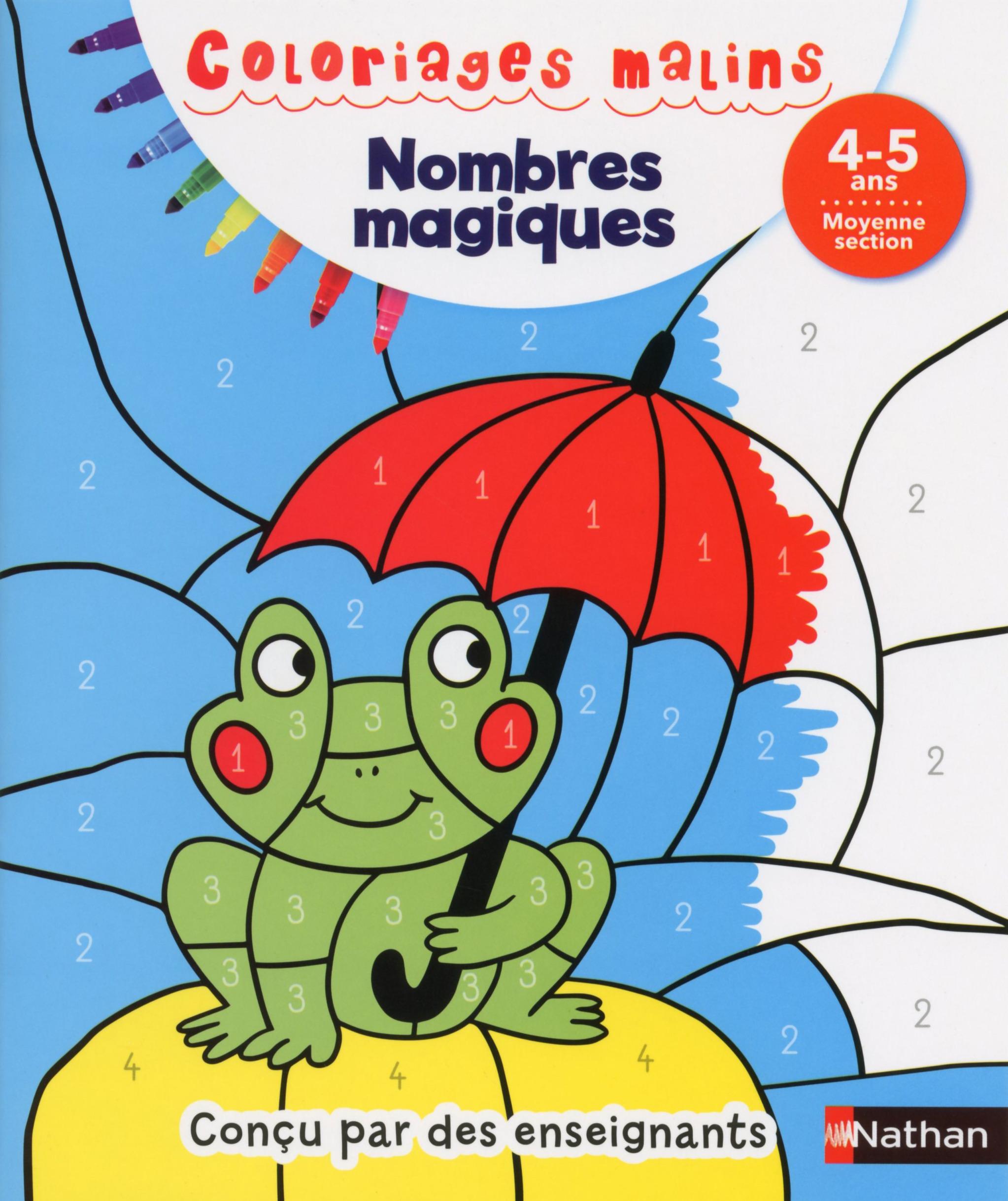 Coloriages malins - Nombres magiques moyenne section 4/5 ans