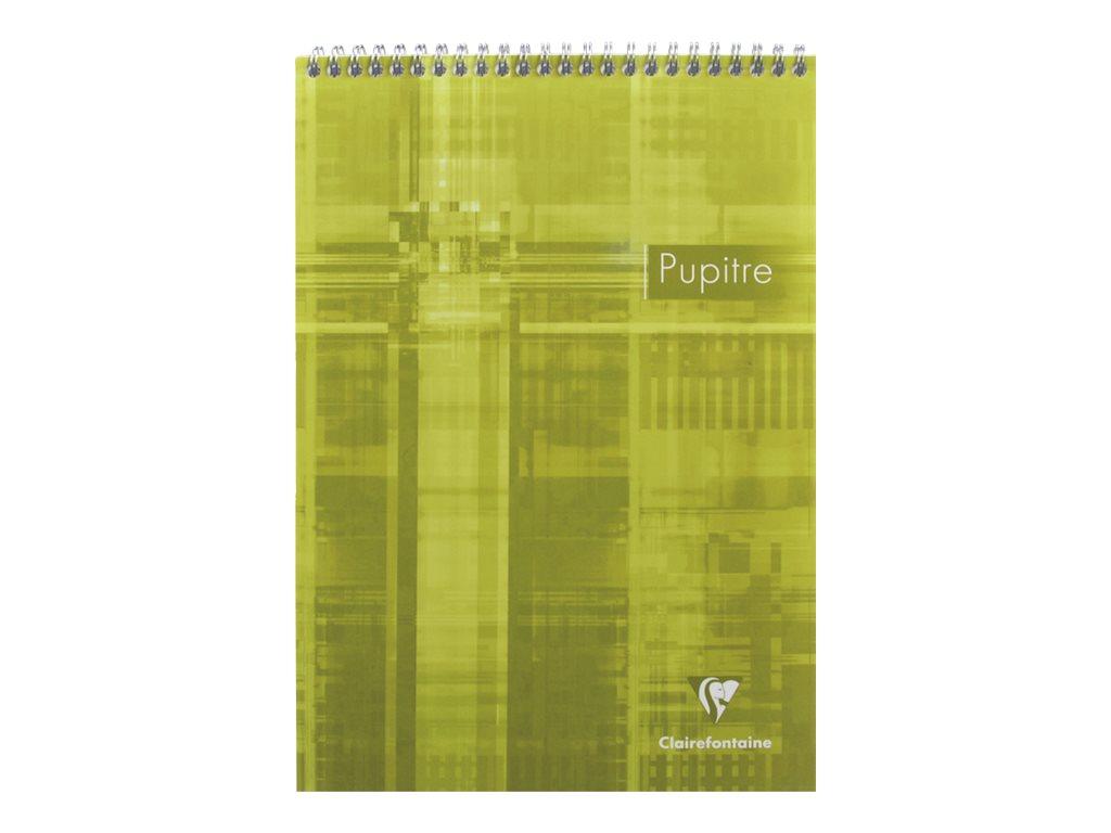 Clairefontaine - Bloc notes Pupitre - A4 - 160 pages - petits carreaux - à spirales - blanc