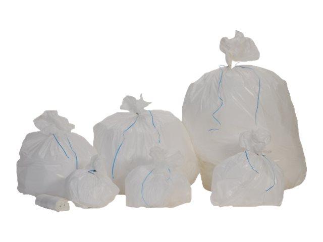Promosac Médiprotec - 50 Sacs poubelle blanc 10L