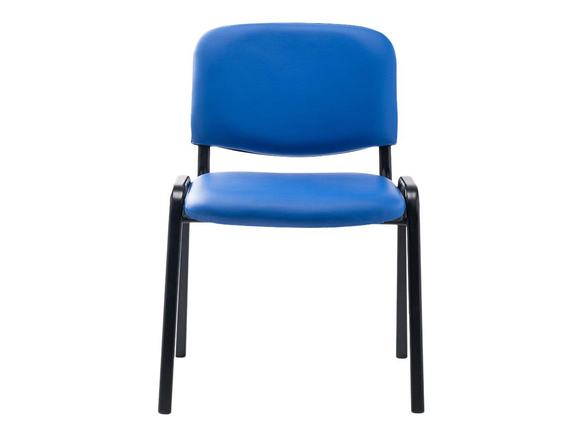Chaise VISIMILI - empilable par 12 - bleu