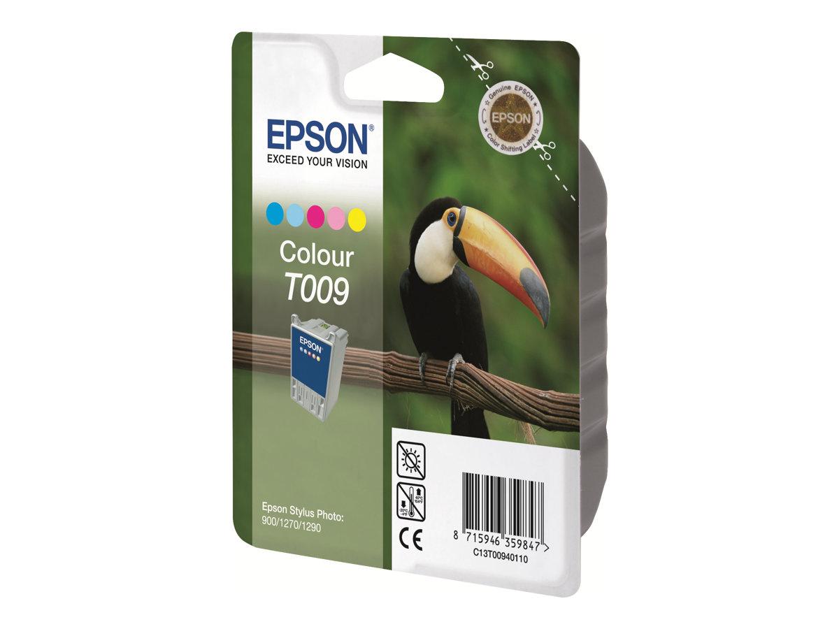 Epson T009 Toucan - couleurs (cyan, cyan clair, magenta, magenta clair, jaune) - cartouche d'encre originale