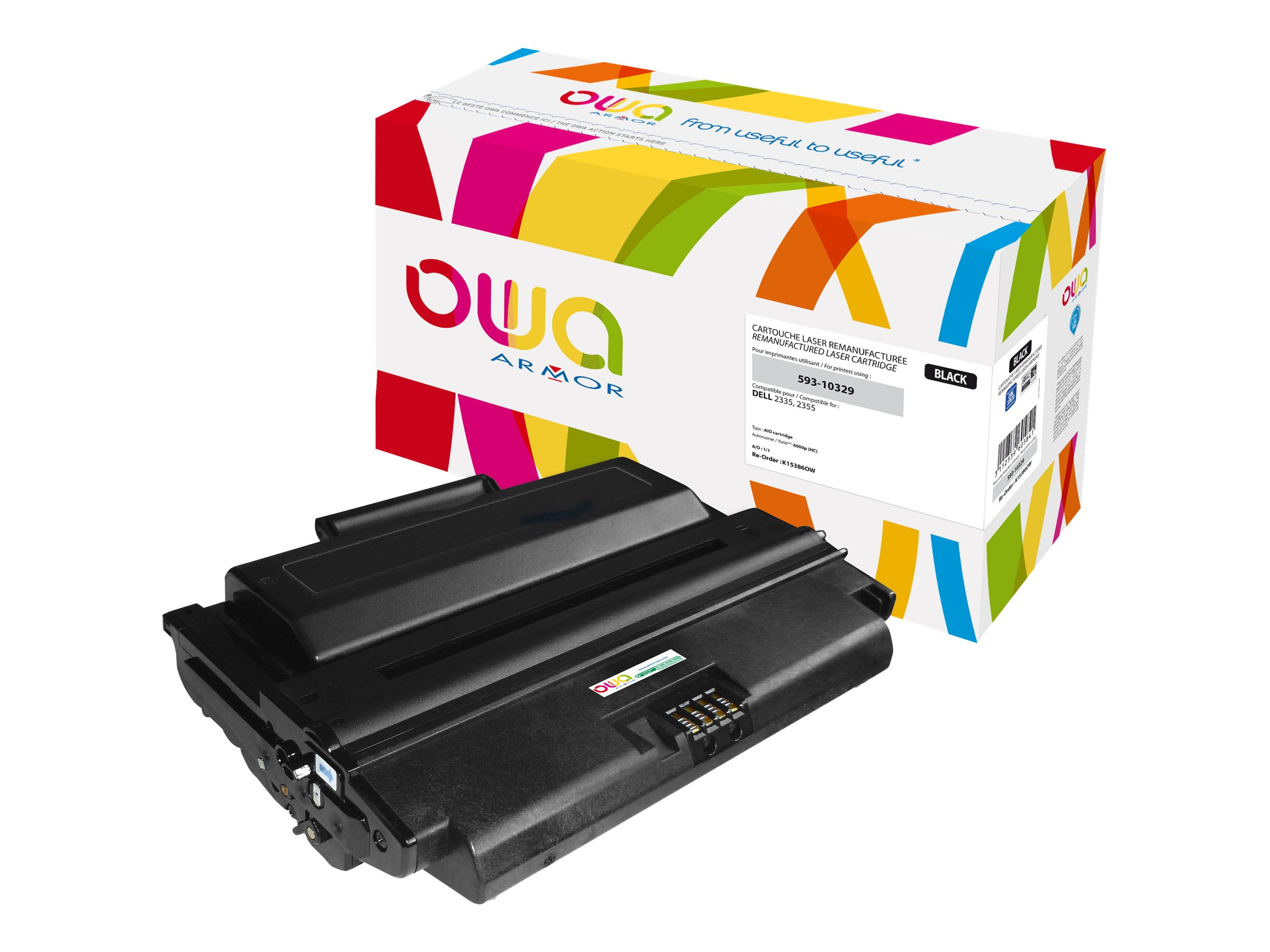 Dell 593-10329 - remanufacturé Owa K15386OW - noir - cartouche laser