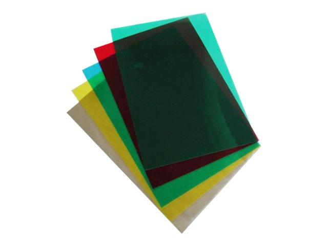 DSB - 100 couvertures à reliure A4 (21 x 29,7 cm) - plastique 200 microns - transparent