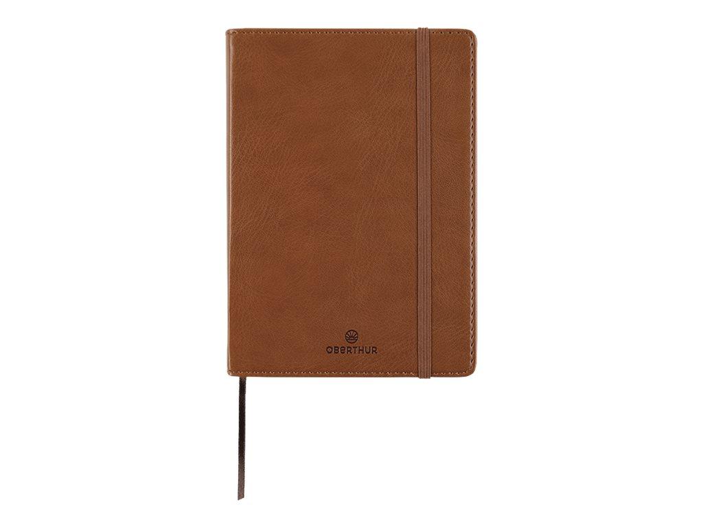 Oberthur Balthazar - Carnet de notes souple A6 - ligné - 200 pages - cognac